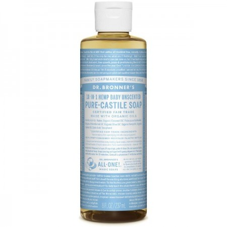 Dr. Bronner's Pure-Castile Liquid Soap 237ml - Baby Unscented