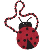 Ladybird Felt Bag with Ball Handle - Long