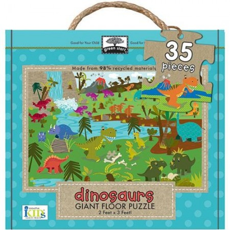 Green Start giant floor puzzle - dinosaurs