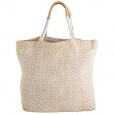 Dharma Door Jute Shopper - White Diamond