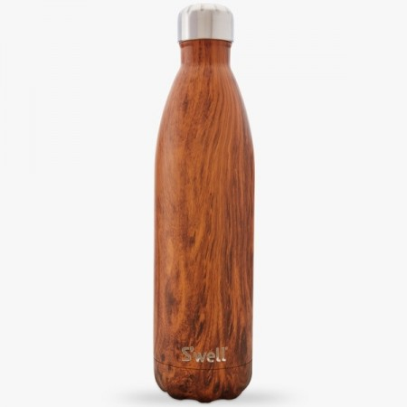 S'Well Insulated Stainless Steel Bottle 750ml Teakwood
