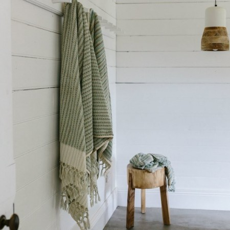 Loom Towels Organic Cotton Bath Towel - Coastal Stripe