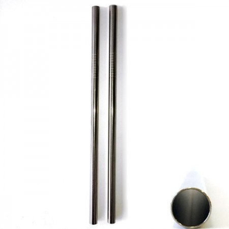 Stainless steel straw (8mm) - set of 2