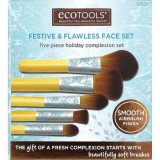 EcoTools bamboo makeup brush box set 5 piece - festive fresh & flawless