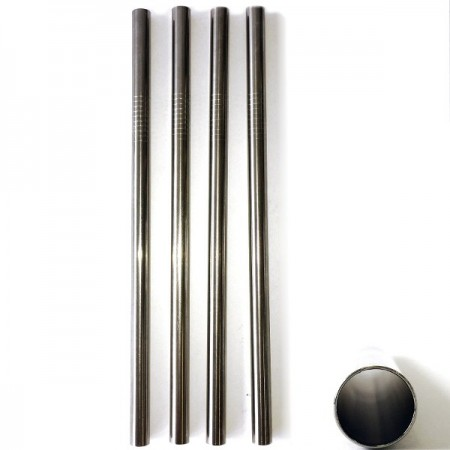 Stainless steel smoothie straw (9.5mm) - pack 4
