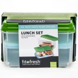 Fit & Fresh Lunch On The Go Set - Blue Lid