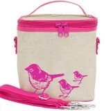 SoYoung Large Insulated Cooler Bag - Pink Birds