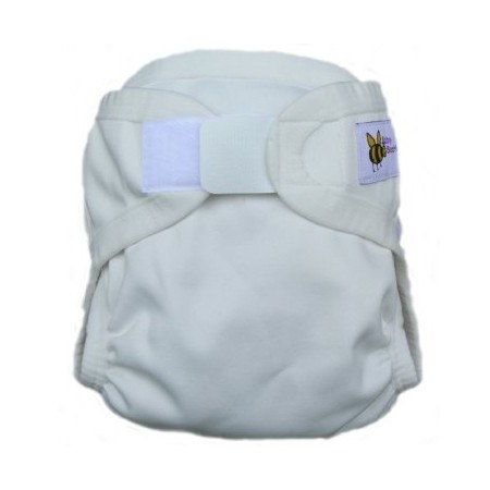Baby Beehinds nappy PUL cover - white large 11kg-16kg
