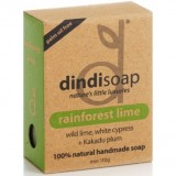 Dindi rainforest lime palm oil free natural soap 110g