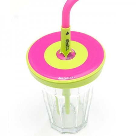 Cool Cap straw lids 2 pack - pink by Greenpaxx
