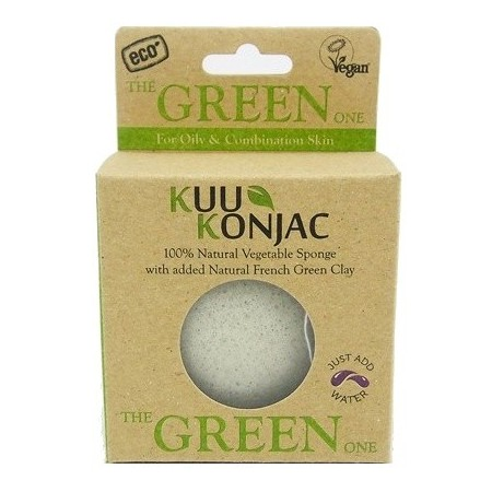 Konjac sponge - french green clay for normal-oily skin