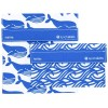 Lunchskins resuable sandwich bag and snack bag set – Blue Whale Wave