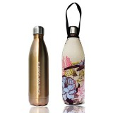 BBBYO 500ml Stainless Steel Water Bottle + Cover - Gold Bird