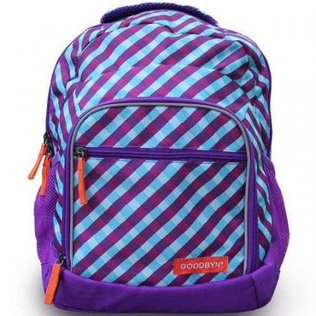 Goodbyn Backpack PVC free Purple Gingham