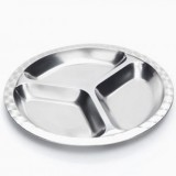 Onyx divided stainless steel plate