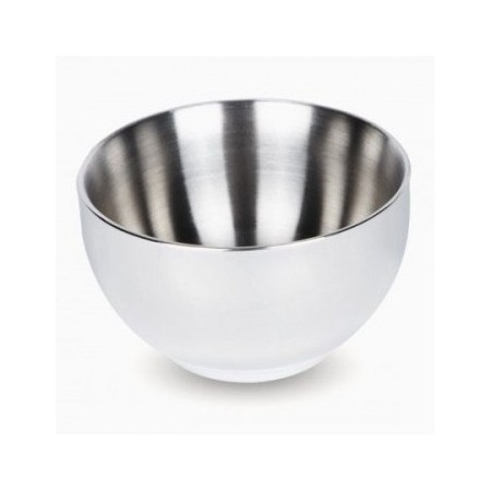 Onyx stainless steel double walled bowl 440ml