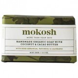 Mokosh Handmade Soap with Rose Geranium, Patchouli & Mandarin