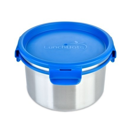 LunchBots Clicks Stainless Steel Container and Inside Lid 1.5L - Royal Blue