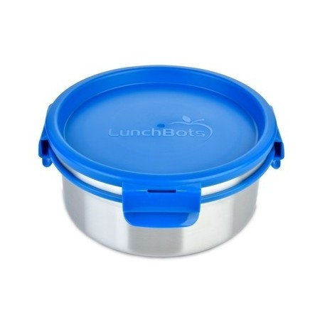 LunchBots Clicks Stainless Steel Container and Inside Lid 1L - Royal Blue