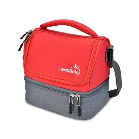 LunchBots Insulated Two Level Bag Red