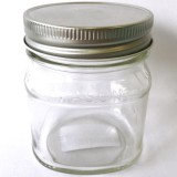 Glass Jar Square Half Pint 240ml