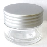 Glass Reusable Jar with Lid 15ml - Clear