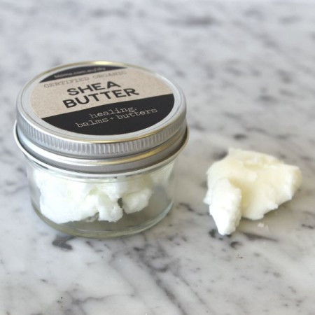 Shea Butter Certified Organic in Glass Jar 50g