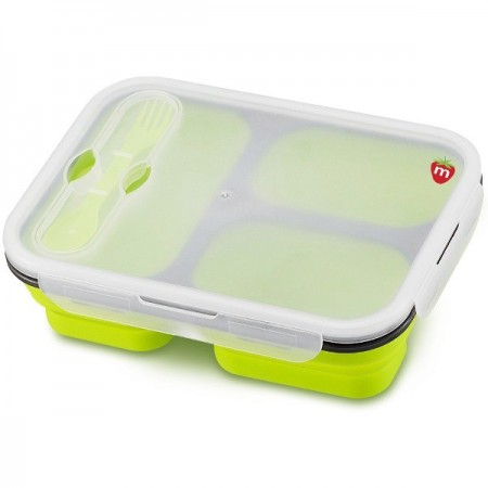 Munch Bento Collapsible Lunchbox - Green