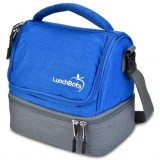 Lunchbots Two-Level Insulated Lunch Bag -  Royal