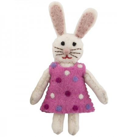 Fairtrade Felt Bunny - Small Pink