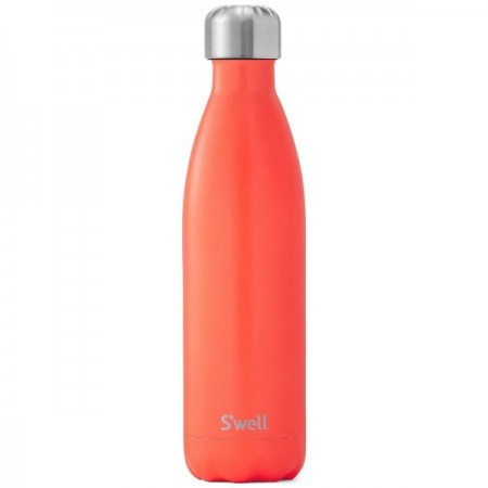 S'Well Insulated Stainless Steel Bottle 750ml - Birds of Paradise (silver lid)