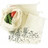 Organic cotton produce bags - set of 4