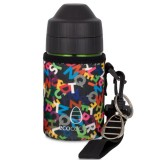 Ecococoon Cuddler 350ml Alphabet Black bottle cover