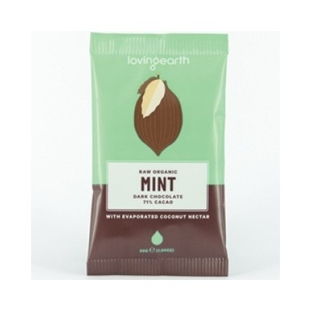 Loving Earth Mint Raw Vegan Chocolate 30g