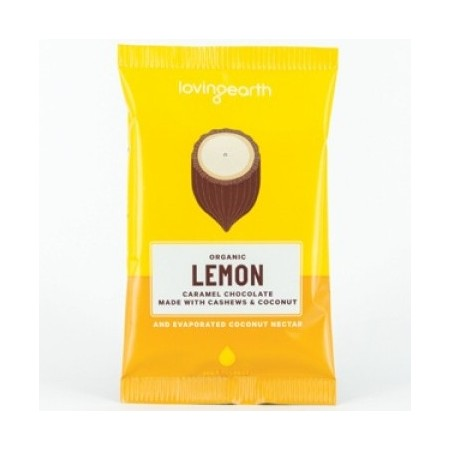Loving Earth Lemon Caramel Raw Vegan Chocolate 30g