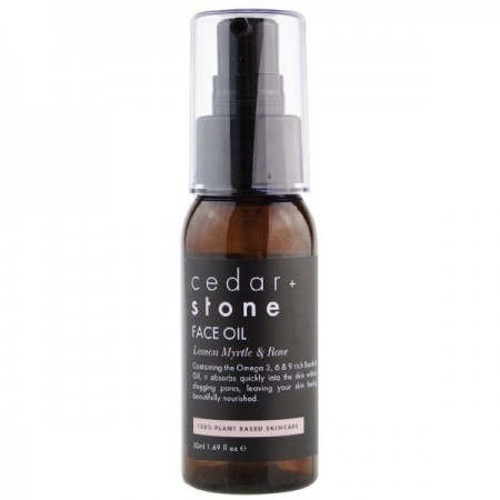 Cedar + Stone Face Oil - Lemon Myrtle & Rose