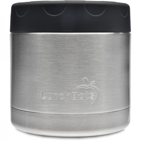 LunchBots Insulated Stainless Steel Container 470ml 16oz - Black (New)