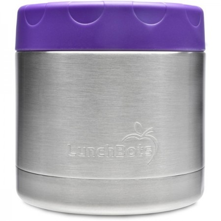 LunchBots Insulated Stainless Steel Container 470ml 16oz - Purple (New)