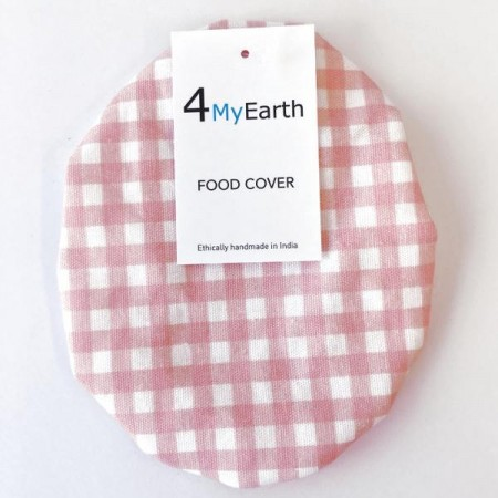 4MyEarth Food Cover Medium - Red Gingham