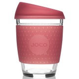 JOCO Glass Reusable Cup 350ml 12oz - Seaglass Ruby Wine
