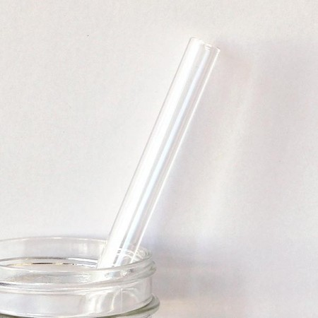 Glass Australian Made Straight Smoothie Straw 12mm - Clear