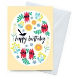 Earth Greetings Card - Happy Birthday Wildflowers