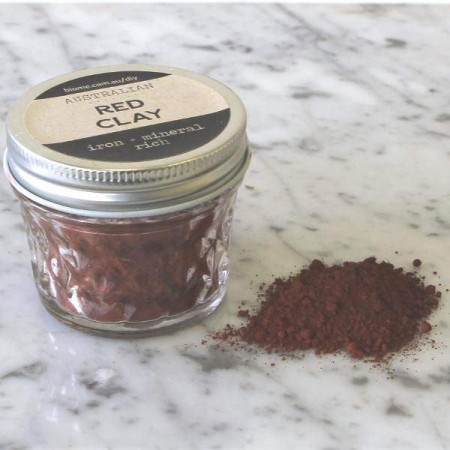 Red Clay in Glass Jar 60g