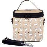 SoYoung Small Insulated Cooler Bag - Bunny Tile Raw Linen