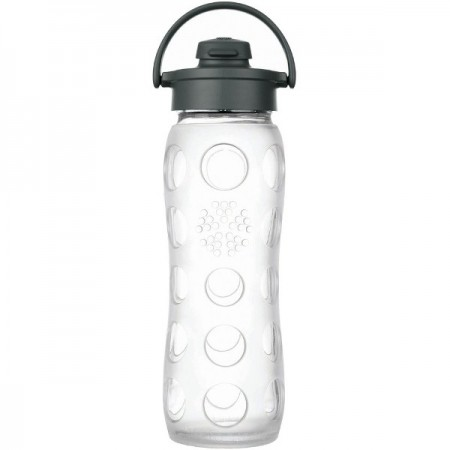 Lifefactory Glass Water Bottle Flip-top 22oz 650ml - Clear