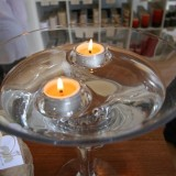 Buy Floating glass tealight candle holder