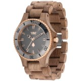 WeWood Date MB Nut Rough Gunmetal Watch