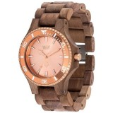 WeWood Date MB Nut Rough Rose Gold Watch