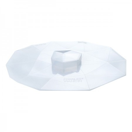 """Crystal Silicone Reusable Food Cover round sm/med 8"""" 20cm"""