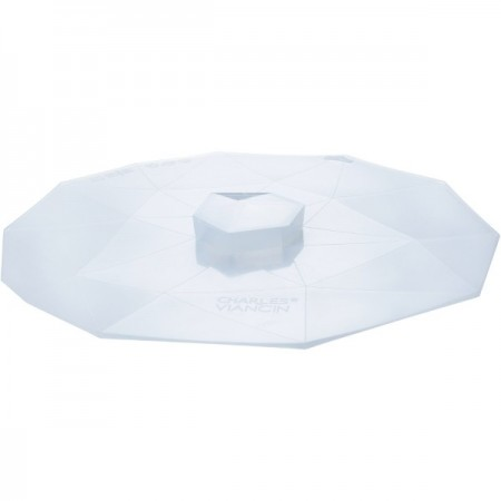 """Crystal Silicone Reusable Food Cover round large 11"""" 28cm"""